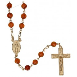 Rosary gold plated  Amber...