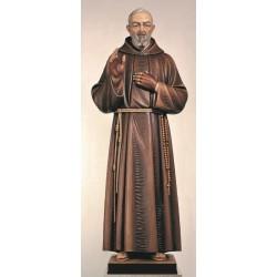 120 Cm statue P Pio Color...