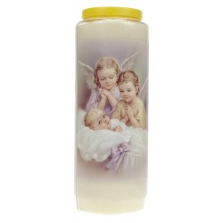 9 days candle / white / Two...