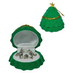 Jewel green / Fir  crib...