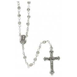 Rosary  silver Metal  4 mm...