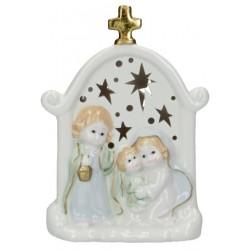 Nativité en porcelaine avec...