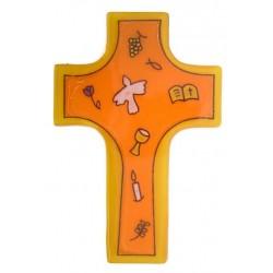 Wall Orange Glass Cross...