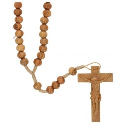 Rosary wood rope olive L35 cm