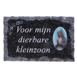 Plaque Cimetiere Voor Mijn...