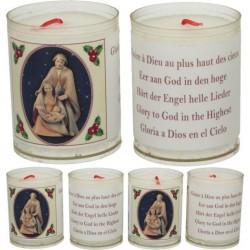Set de 4 bougies - Noël -...